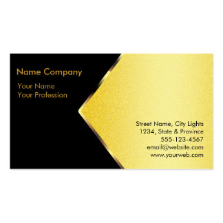 Gold Foil Retro Crown logo Financial Services Pack Of Standard Business Cards