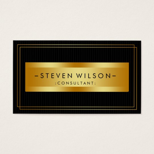 Gold Foil Retro Elegant Financial Services Business Card