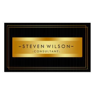 Gold Foil Retro Elegant Financial Services Pack Of Standard Business Cards