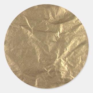 Gold Foil Round Sticker