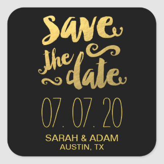Gold Foil Save Our Date | Save the Date Sticker