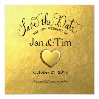 Gold Foil Save the Date 13 Cm X 13 Cm Square Invitation Card