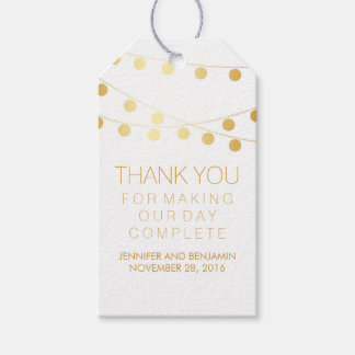 Gold Foil String Lights Elegant Wedding