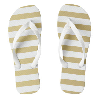 Gold Foil Stripe Women's Flip Flops