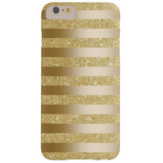 Gold Foil Stripes Faux Glitter iPhone 6 Plus Case