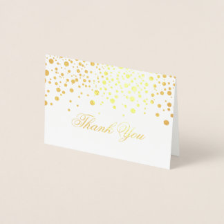 Gold Foil Thank YOu Foil Card