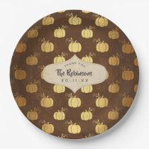 Gold Foil Thanksgiving Paper Plate