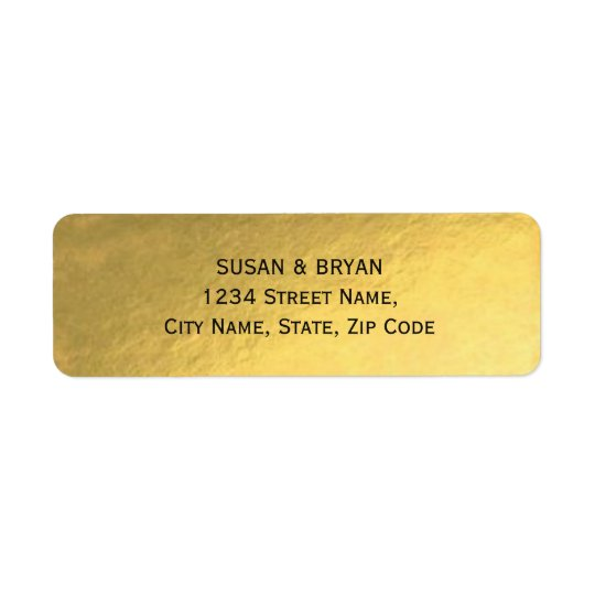 Gold Foil Wedding Address Label