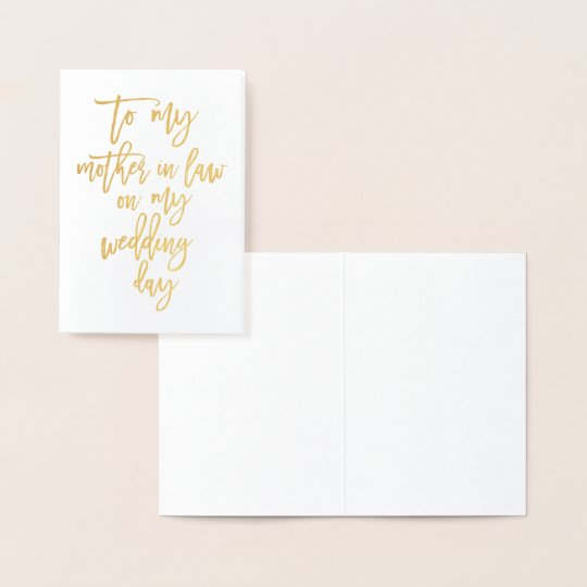 Gold Foil Wedding Mother In Law Thank You
