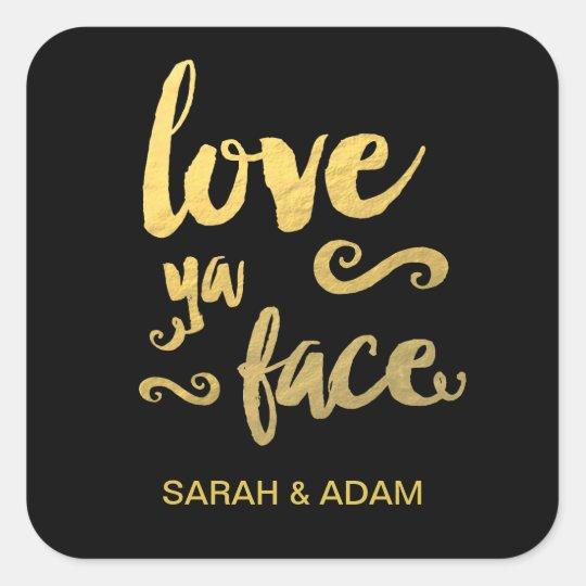 Gold Foil Wedding Sticker