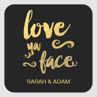 Gold Foil Wedding Sticker