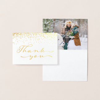 Gold Foil Wedding Thank You Foil Card