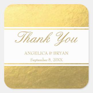 Gold Foil Wedding Thank You Sticker
