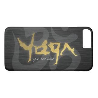 Gold Foil YOGA Human Alphabet Letters Om Symbol iPhone 7 Plus Case