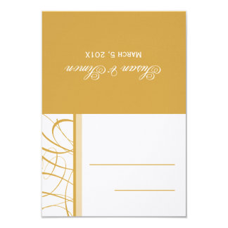 Gold Folded Table Place Card 9 Cm X 13 Cm Invitation Card