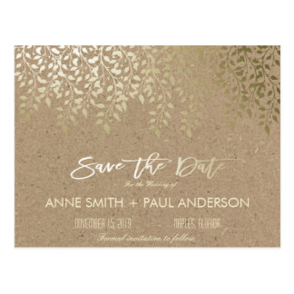 Gold Save The Date Postcards | Zazzle.co.uk