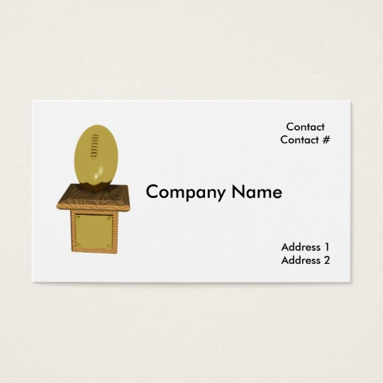 gold football trophy business card