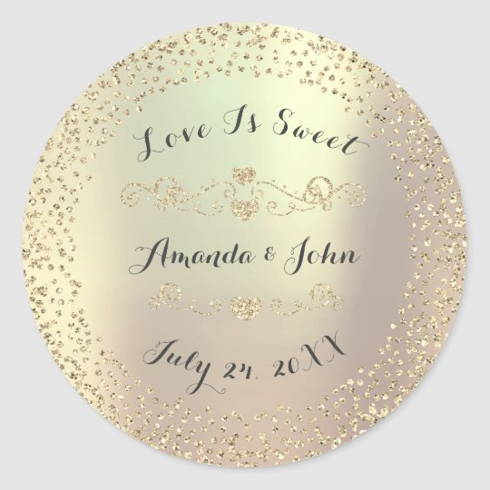 Gold Foxier Glitter Save the Date Love is
