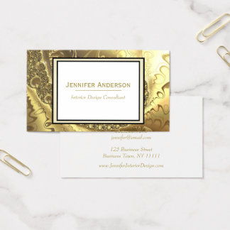 Gold Fractal Business Card