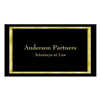 Gold Frame Attorney Business Card
