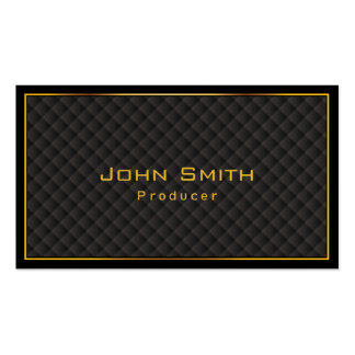 Gold Frame Diamond Grids Producer Business Card
