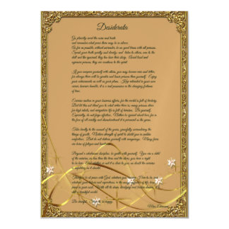 Gold Framed Desiderata Poem Magnet