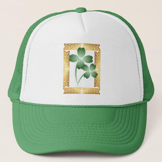 Gold Framed Shamrocks Hat