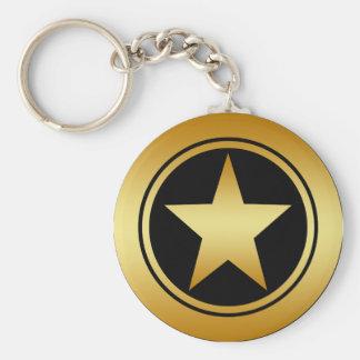 GOLD FRAMED STAR KEY CHAINS