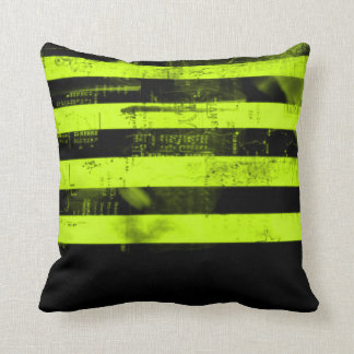 Gold Freedom Of Speech Grunge Stripes Throw Pillow Cushions