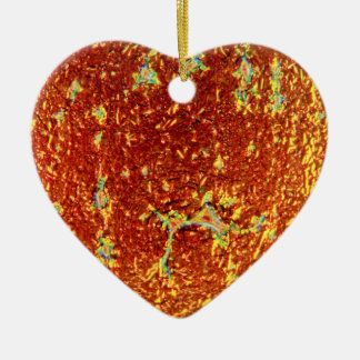 Gold fused glass poster ceramic heart decoration