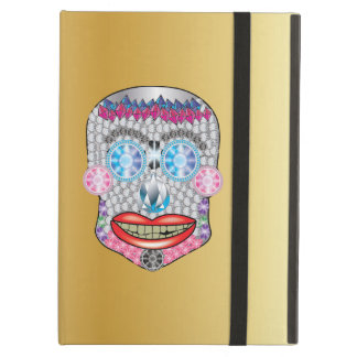 Gold Gemma Candy Skull Ipad Air Case