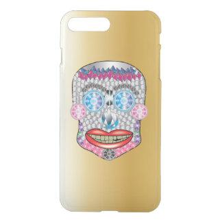 Gold Gemma Candy Skull Iphone Case