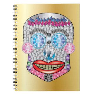 Gold Gemma Candy Skull Notebook