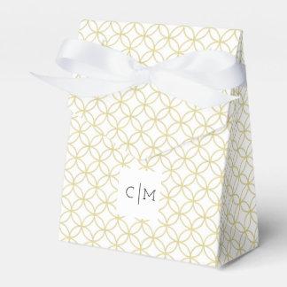 Gold Geometric Modern 'Shippo' Wedding Favor Box