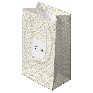 Gold Geometric Monogram 'Shippo' Wedding Gift Bag