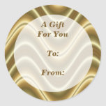 gold gift tags sticker