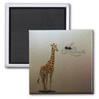 Gold Giraffe Magnet