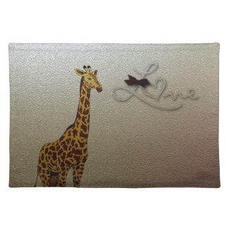 Gold Giraffe Place Mat