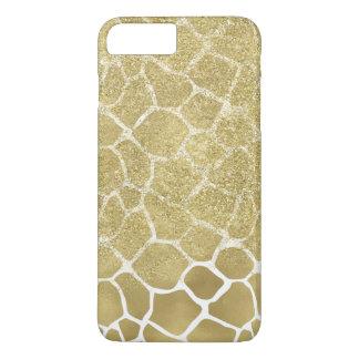 Gold Giraffe Print with faux Glitter iPhone 8 Plus/7 Plus Case