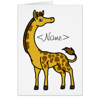 Gold Giraffe with Brown Spots Greeting Card