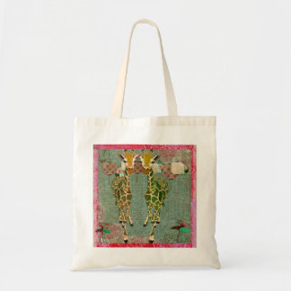 Gold Giraffes Smell The Roses Bag