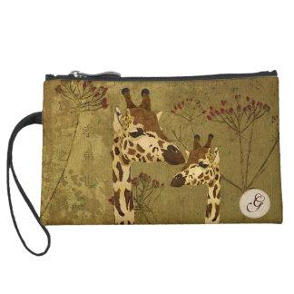 Gold Giraffes Travel Accessory Bag