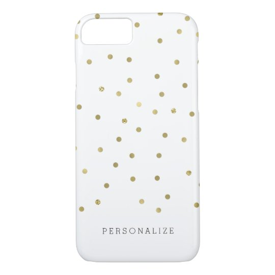 Gold Glam Confetti Glitz Personalised iPhone 8/7 Case