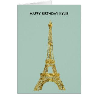 Gold Glam Eiffel Tower Card