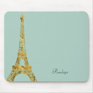 Gold Glam Eiffel Tower Mouse Mat