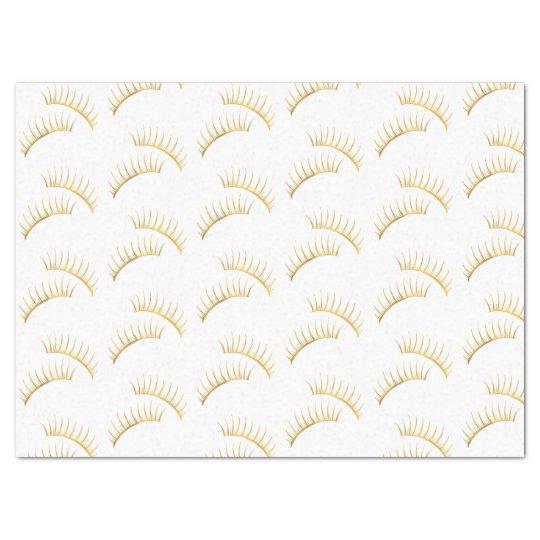 Gold Glam Eyelashes Tissue Paper