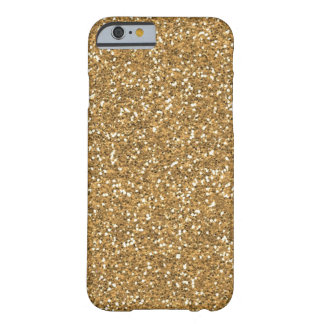 Gold Glam Faux Glitter Barely There iPhone 6 Case