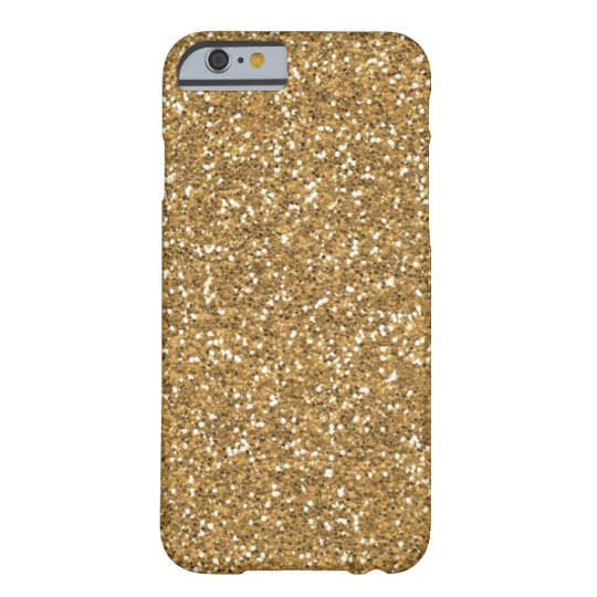 Gold Glam Faux Glitter Barely There iPhone 6