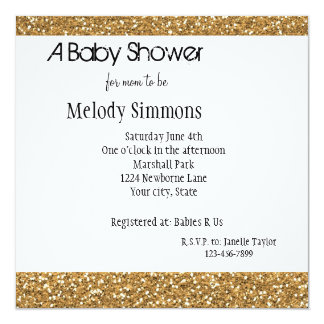 Gold Glam Faux Glitter Card