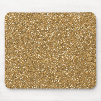 Gold Glam Faux Glitter Mouse Mat
